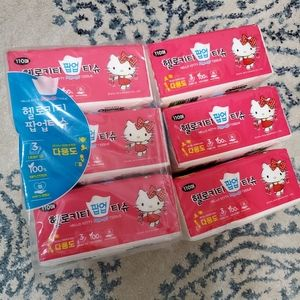 @mandymella 6 packs Hello Kitty facial tissues